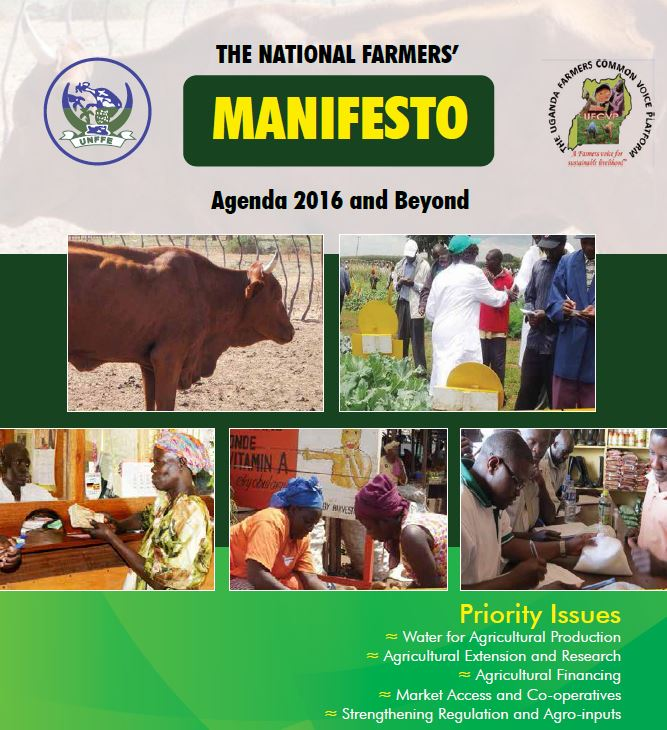 THE NATIONAL FARMERS' MANIFESTO, Agenda 2016 and Beyond
